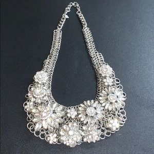 Like New Banana Republic Rhinestone Bib Necklace